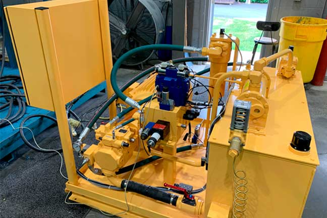 Yellow forging equipment ready for modernization