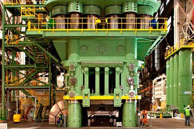 Large green forging machine
