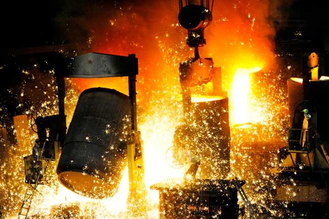 Hot forging press components