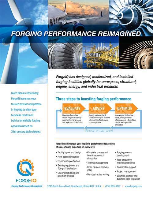 "ForgeIQ ""Forging Performance Reimagined"" brochure"